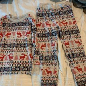 GAP Boys' Reindeer Long John PJ Set Size 8